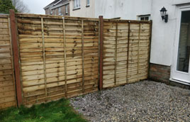 Fence repair in Liskeard