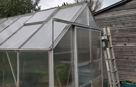 Fixing a greenhouse in Liskeard