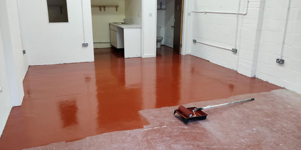 Painting a floor