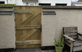 New garden gate in Liskeard