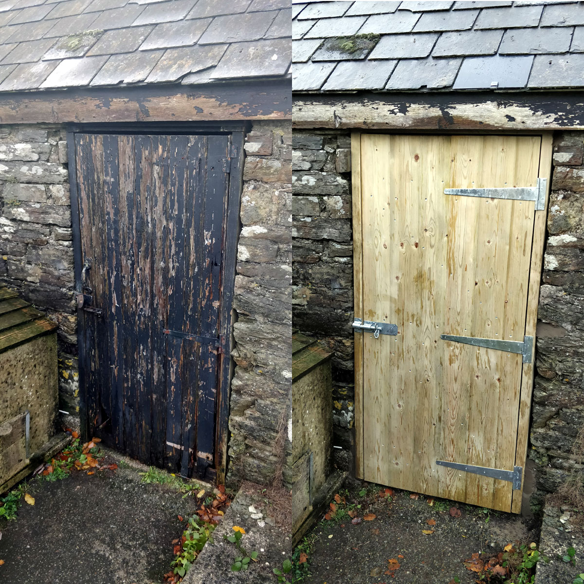 New outhouse door