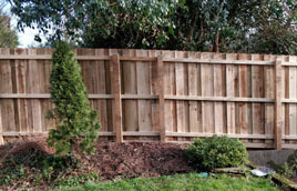 New garden fence in Liskeard