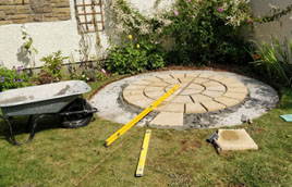 Circular patio in Liskeard