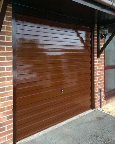 Garage Door Painting In Liskeard East Cornwall Handyman